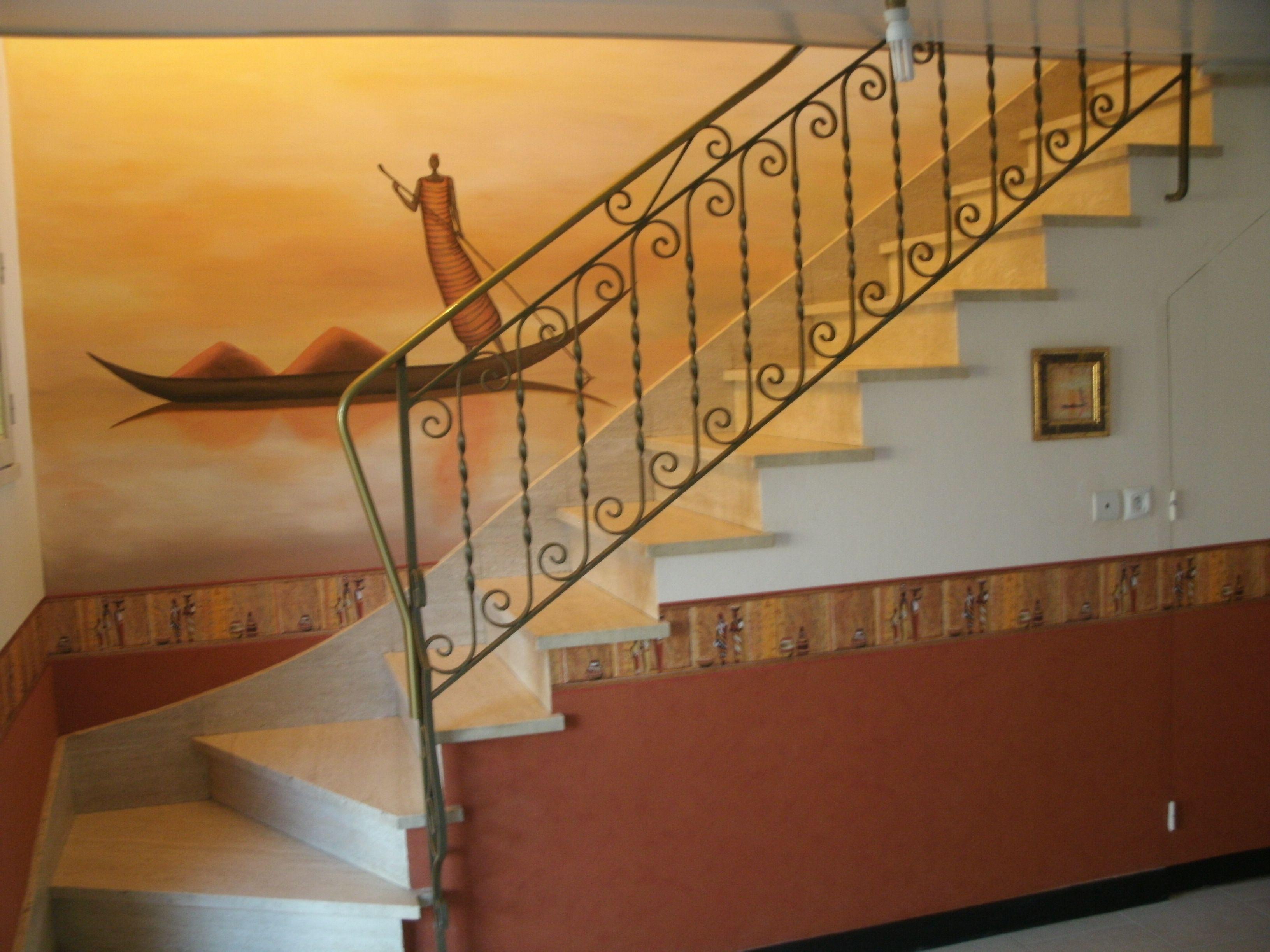 Fresque cage escalier for Cage escalier